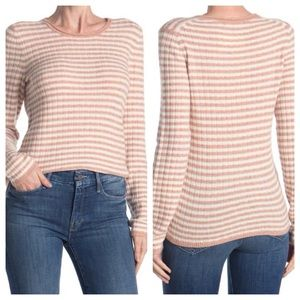 MADEWELL pink striped light sweater